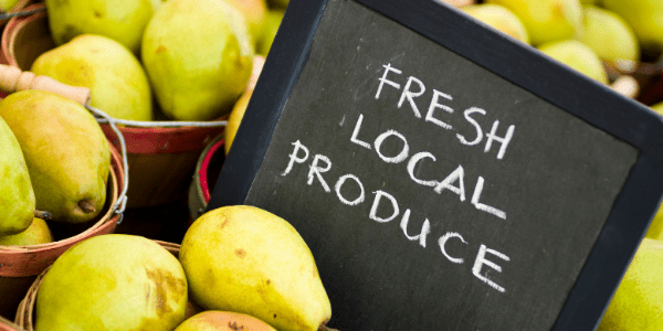 Law of Attraction, eating local fresh produce