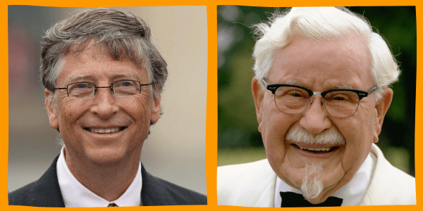 Bill Gates and Colonel Sanders