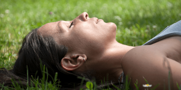 woman doing Progressive Muscle Relaxation