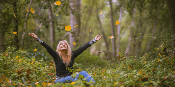 woman being happy